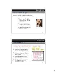 Data Slicer Data Slicer - SoftBase Systems, Inc.