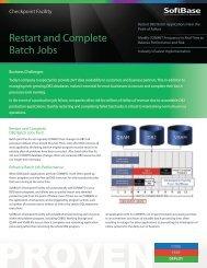 Checkpoint Facility - SoftBase Systems, Inc.