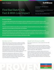 Batch Analyzer Facility - SoftBase Systems, Inc.