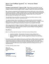 Macro 4 and SoftBase Systems®, Inc Announce Global Partnership