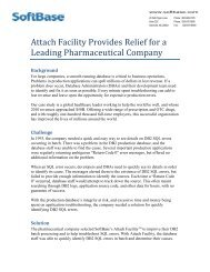 Attach Facility Provides Relief for a Leading Pharmaceutical Company