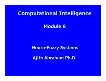 Module 8 - Ajith Abraham