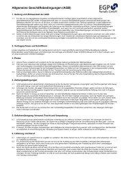 Allgemeine Geschäftsbedingungen (AGB) - EGP Bartalis Gmbh