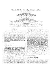 Emotional Ant Based Modeling of Crowd Dynamics - CiteSeerX