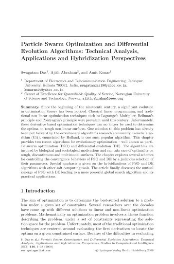 Particle Swarm Optimization and Differential Evolution Algorithms ...