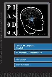 Palazzo dei Congressi Pisa, Italy 30 November - 2 ... - Ajith Abraham