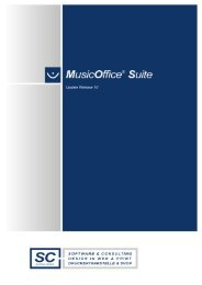 Beschreibung zum MusicOffice Update