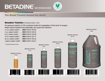 The Brand Trusted Around the World - Betadine