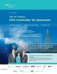 CICA Commodity Tax Symposium - CICA Conferences & Courses ...