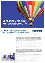 vErlassEn sIE sIch auf Epson QualItät - SoftExpress