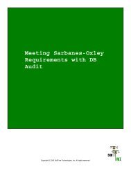 Meeting Sarbanes-Oxley Requirements with DB Audit - SoftTree ...