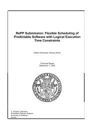 Flexible Scheduling of Predictable Software with Logical Execution ...