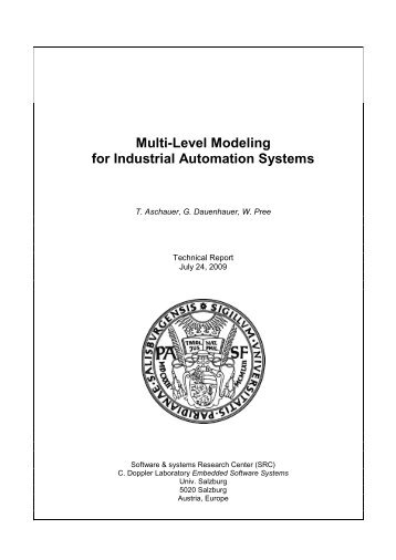 Multi-Level Modeling for Industrial Automation ... - embeddedCMMI