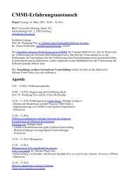 CMMI workshop - Softwareresearch.net