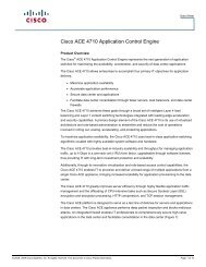 Cisco ACE 4710 Application Control Engine - Ingram Micro