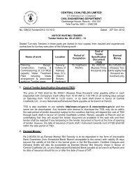 CENTRAL COALFIELDS LIMITED (A Miniratna Cat- I ... - Tenders India