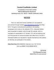 Central Coalfields Limited NOTICE - CCL
