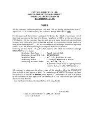 Format for declaration of bank Details - CCL