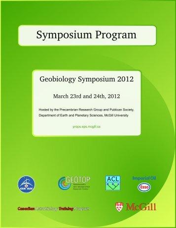 Symposium Program - Precambrian Research Office - McGill ...