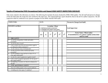 FOE-OSH Audit Report Form - Faculty of Engineering