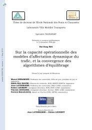 Sur la capacité opérationnelle des modèles d'affectation dynamique ...