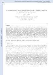 A Bending-Gradient model for thick plates, Part II: Closed-form ...