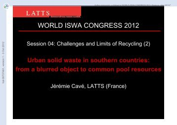 Urban solid waste in southern countries: from a blurred object to ...