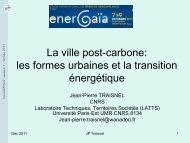 La ville post-carbone: les formes urbaines et la transition énergétique