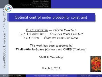 Distributed Constraint Optimization under Stochastic ...