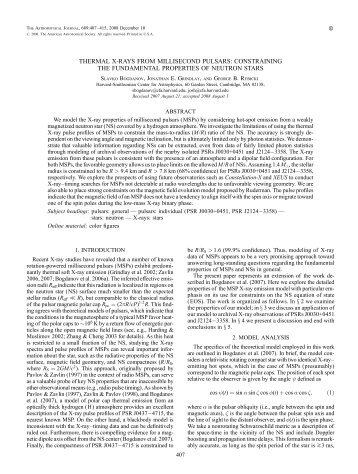 thermal x-rays from millisecond pulsars: constraining ... - IOPscience