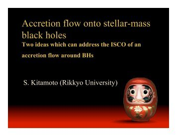 Accretion flow onto stellar-mass black holes