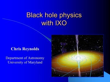 Future X-ray studies of black holes - NASA