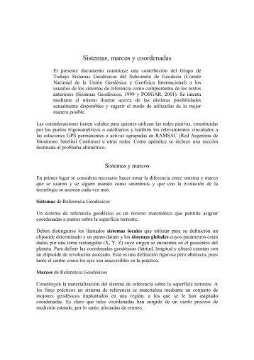 Sistemas, marcos y coordenadas - Facultad de Ciencias Exactas ...
