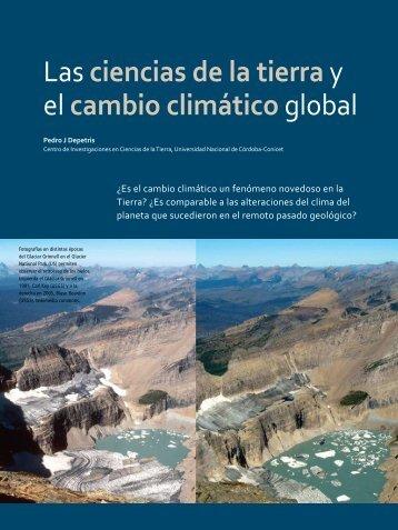 Las Ciencias de la Tierra y el cambio climático global - Facultad de ...