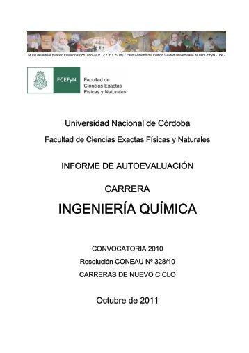 ingeniería química - Facultad de Ciencias Exactas, Físicas y Naturales