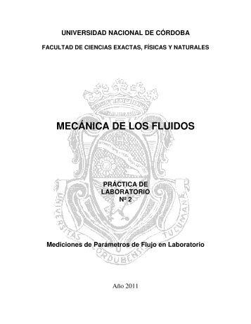 mecánica de los fluidos - Facultad de Ciencias Exactas, Físicas y ...