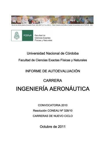 ingeniería aeronáutica - Facultad de Ciencias Exactas, Físicas y ...