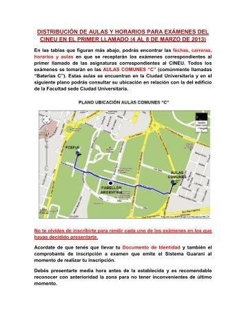 Exámenes Marzo 2013 Primer LLamado - Facultad de Ciencias ...