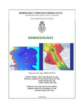 HIDROGEOLOGÍA - Facultad de Ciencias Exactas, Físicas y Naturales