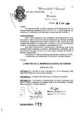 Reglamento de Concursos Docentes-UNC: Res. Rectoral 433/09 y ...