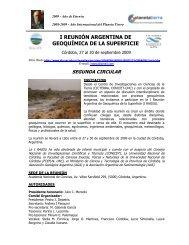 I Reunión Argentina de Geoquímica de la Superficie (IRAGSU)- 2da ...