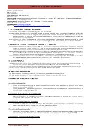 curriculum vitae - Facultad de Ciencias Exactas, Físicas y Naturales
