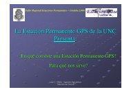 Definición de Estación Permanente GPS - Facultad de Ciencias ...