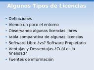 Algunos Tipos de Licencias