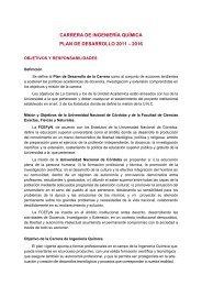 Plan de Desarrollo Ingeniería Química - Facultad de Ciencias ...