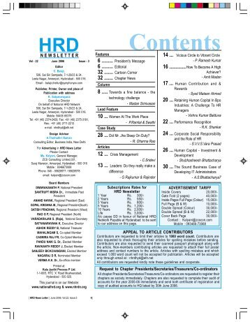 Contents - National HRD Network