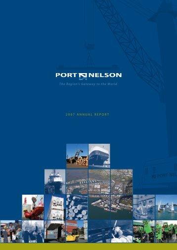 Port Nelson Annual Report 2007 (pdf)