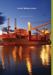 Port Nelson Annual Report 2009 (pdf)