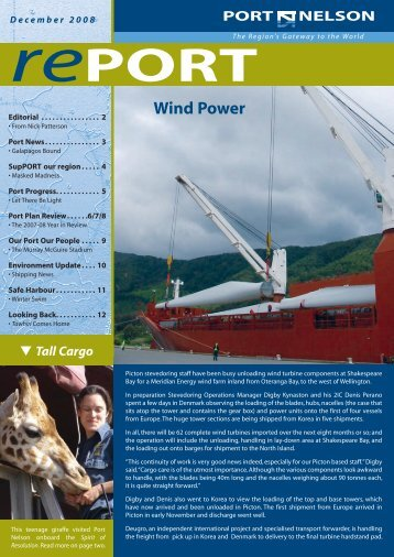 December 2008 (pdf) - Port Nelson