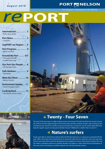 August 2010 (pdf) - Port Nelson